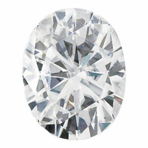 .94CT Forever One Moissanite White Oval Loose Stone 7x5mm Charles & Colvard