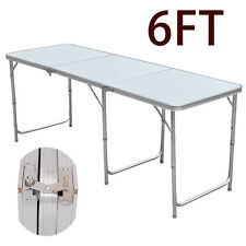 6FT FOLDING TRESTLE TABLE MARKET STALL FAIR TRADE SHOWS DISPLAY FOLDABLE