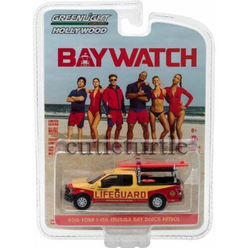 Greenlight Baywatch 2016 Ford F-150 Emerald Bay Beach Patrol 1:64 44760 F