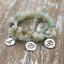 NATURAL-Matte-Amazonite-Stone-Charm-Lotus-Buddha-Yoga-Bracelets-Chakra-Mala-Bead thumbnail 1