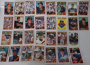 1988-Topps-Minnesota-Twins-Team-Set-of-30-Baseball-Cards