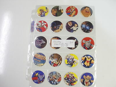 POGS SHREDDIES BIKER MICE FROM MARSCOMPLETE SET OF ALL 24 BY BTF IN 1995 AWESOME