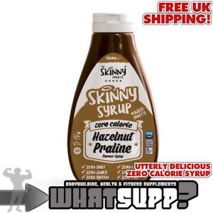 SKINNY SYRUP Zero Calorie Hazelnut Praline Flavour VEGAN Fat/Gluten/Sugar-Free