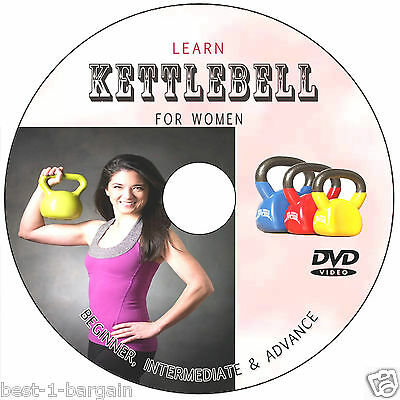 LEARN KETTLEBELL TRAINING FOR WOMEN EXERCISE PROGRAM DVD WORKOUT WEIGHT FAT LOSS