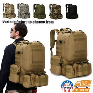 60L Outdoor Military Molle Tactical Backpack Rucksack Camping Bag Travel Hiking
