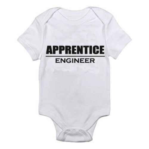 Science Manufacturing Themed Baby Grow//Suit ENGINEER APPRENTICE Maths