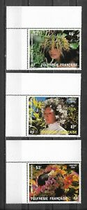 French Polynesia 1984. Superb set 3 new stamp**. Polynesian wreaths (4616) - France - Type: stamps Year of Issue: 1984 Region: French Polynésia Quality: Mint Never Hinged/MNH - France