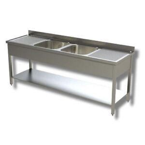 Fregadero-de-200x60x85-430-de-acero-inoxidable-sobre-piernas-estanteria-restaura