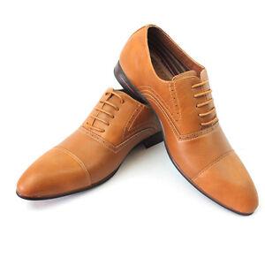 Image is loading Men-039-s-Dress-Shoes-Cap-Toe-Ferro-