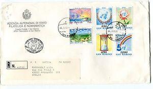 1995 Fdc San Marino 50° Onu Europa Pace E Libertà Raccomandata First Day Cover Divers Styles