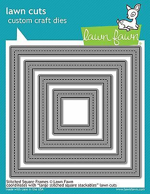 LF910 Lawn Fawn Metal Die Cut Nesting Large Stitched Oval Stackables Card Making