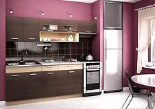 Komplett Küche 240cm Schränke, Küchenzeilen  MORENO KASTANIENBRAUN