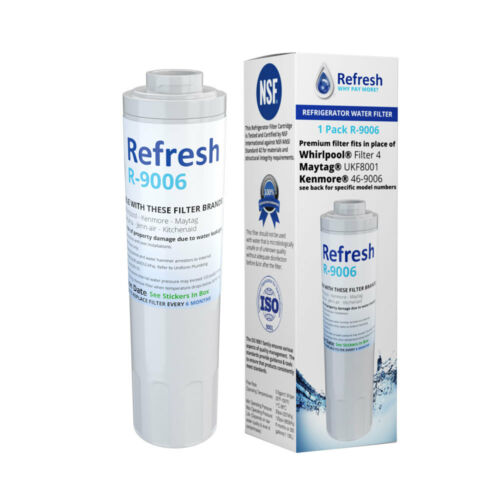 Refresh Replacement Water Filter 4 Pack Fits Maytag MFI2568AEB Refrigerators