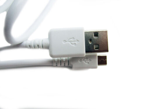 """90cm USB White Cable for Miniland Baby 89166 2.4/"""" Baby Monitor Parent Unit"""
