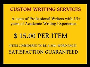Custom written term papers