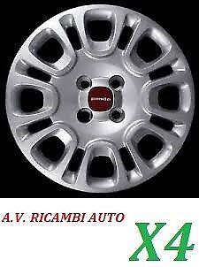 KIT SERIE 4 COPPE COPRICERCHI RUOTA FIAT PANDA 2012 IN POI RAGGIO 14 COD.1309