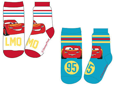 Disney Cars Socks Lightning McQueen Pack of 2