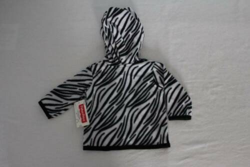 NEW Baby Girls Hooded Jacket 0-3 Month Zebra Print Hoodie Zip Soft Warm Infant