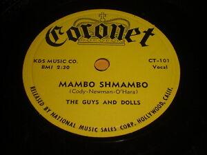 The-Guys-And-Dolls-Mambo-Shmambo-Fruit-Cake-78-Coronet-CT-101