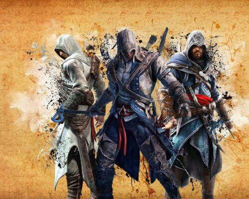 14 Assassin/'s Creed Collection Van-Go Paint-By-Number Kit