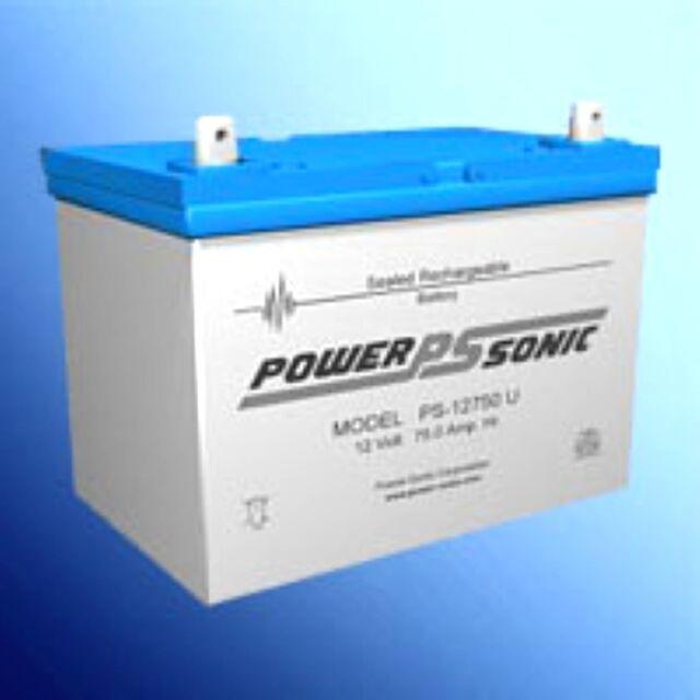 BATTERY POWER-SONIC PS-12750 NUT AND BOLT  12V 75AH DEEP CYCLE EACH