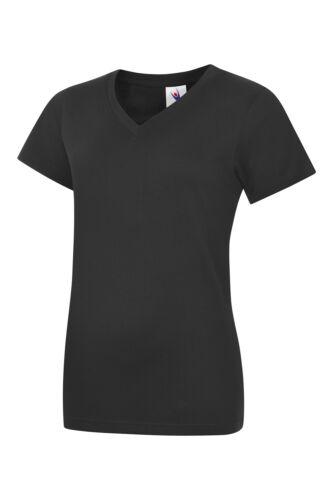 Freundinnen etc. Damen V-Ausschnitt T-Shirt BLONDIE /& BROWNIE für Schwestern