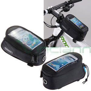 "Borsa custodia NERA bicicletta bici touch screen per Apple iPhone 6 4.7"" 6S MMK"
