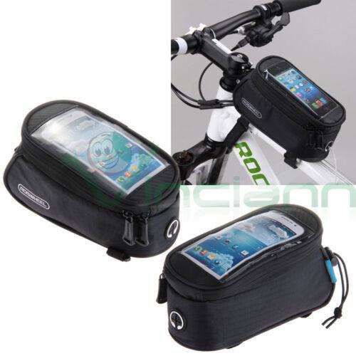 Borsa custodia NERA bicicletta bici touch screen per iPhone 7 4.7 MMK