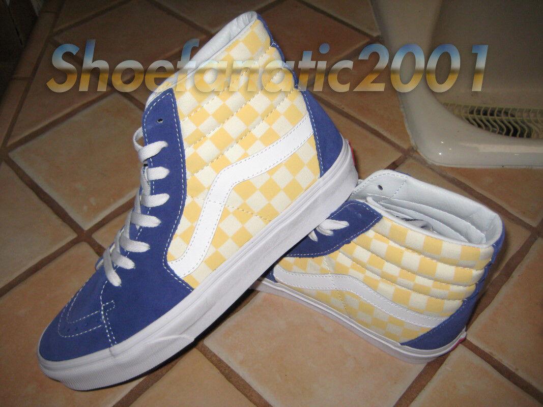 Vans Sample SK8 Hi BMX Checkerboard True True True bluee Yellow Rad Hell Track Racing 991de8