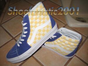 c024b6f7 Details about Vans Sample SK8 Hi BMX Checkerboard True Blue Yellow Rad Hell  Track Racing