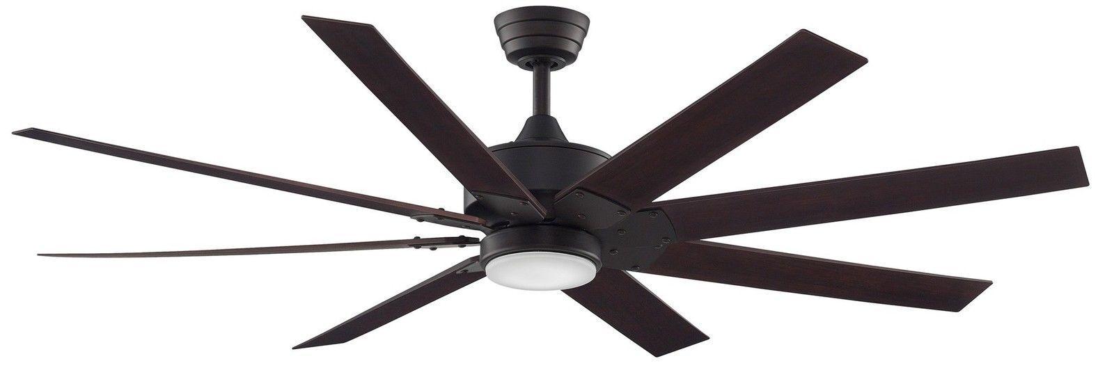 Dark Bronze Led Ceiling Fan