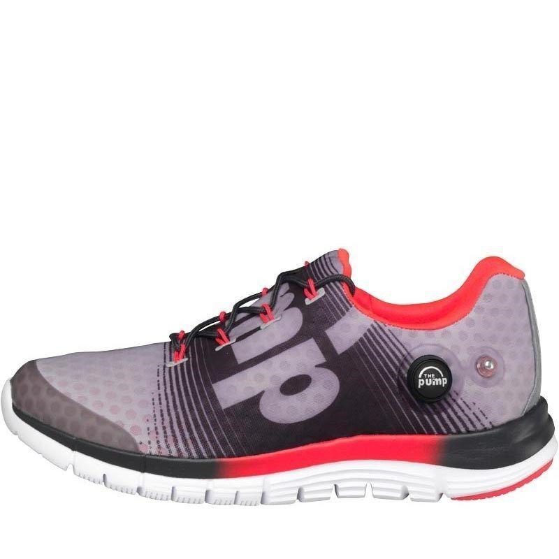 Reebok pour femme UK 5 zpump fusion gris gravier Cherry Blanc Chaussures De Course Baskets