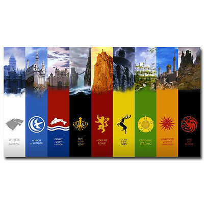 Game of Thrones TV Series Winter Is Here Art Silk Poster 1 13x20 32x48inch J492
