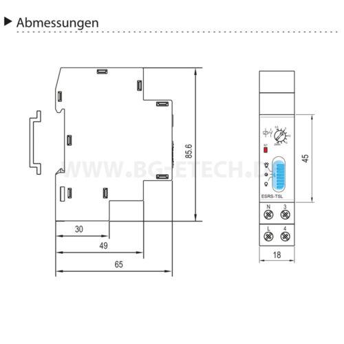 Treppenlichtautomat für Hutschiene Treppenlichtzeitschaltuhr