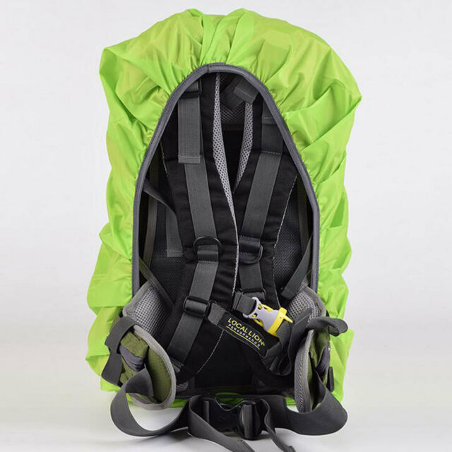 Waterproof Travel Hiking Rucksack Backpack Camping Dust Rain Cover - Green