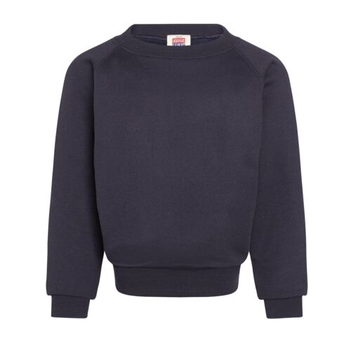 Felpa Blu Navy School Uniform Crewe collo Ragazzi Ragazze Poly Cotton By David Luke