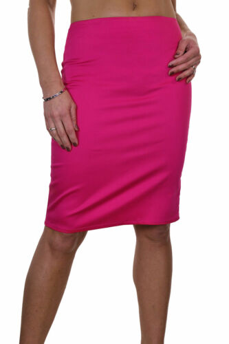 """Stretch Pencil Skirt 22/"""" Smart Casual Cotton Sateen Hot Pink NEW 6-18"""