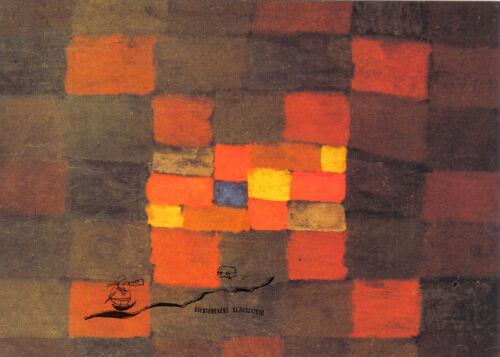 Idèe amical Kunstpostkarte Paul Klee Freundlicher Einblick