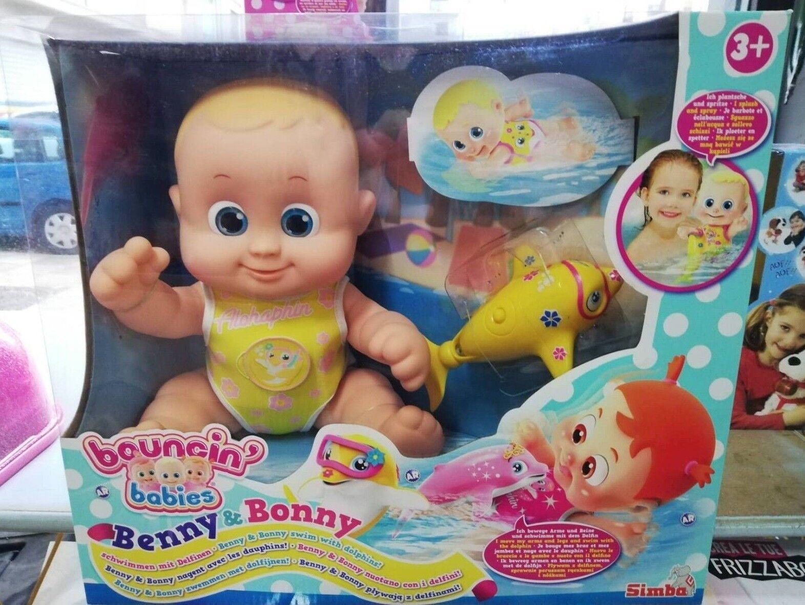 BOUNCIN' BABIES BENNY E BONNY NUOTANO CON I I I DELFINI BAMBOLOTTO 19bf44