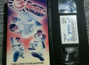 3 Ninjas Knuckle Up (VHS, 1995, Closed Captioned) Victor ...