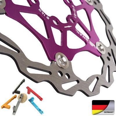 MTB Fahrrad Aluminum 160//180//203mm Schwimm Scheibe Rotors Adapter Post Mount DE