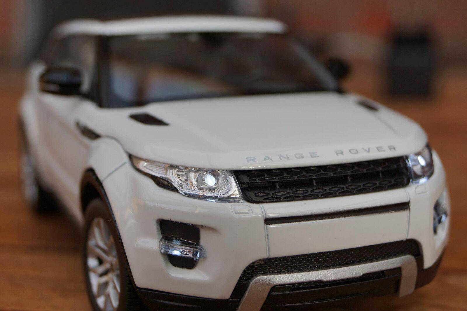 Land Rover Range Rover Evoque avec éclairage DEL (Xénon) en 1 24 Blanc WELLY