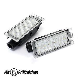 LED-Kennzeichenbeleuchtung-TUV-Frei-fuer-RENAULT-Megane-Clio-3-4-GT-Laguna-Espace