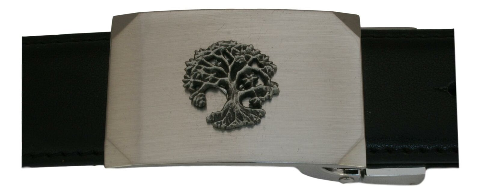 Tree of Life Leather Belt and Buckle Set In Gift Tin Mens Gift 515