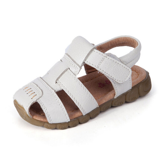 6d8c7c29537 Baby Kids Boys Summer Gladiator Soft Leather Sandals Beach Casual ...