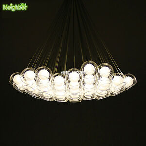 Modern clear glass ball bubble pendant lamp led hanging chandelier image is loading modern clear glass ball bubble pendant lamp led aloadofball Choice Image