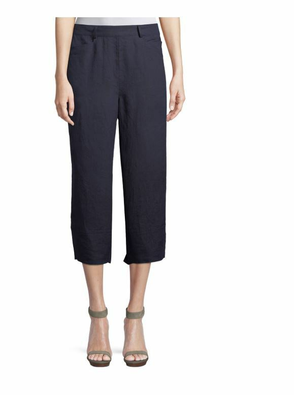 Masai Pam Linen Cropped Culottes Navy bluee Pants S