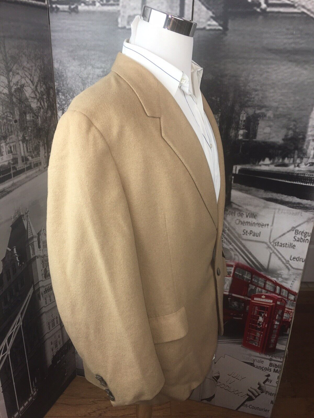 Oxford Clothes Paul Simon Men Sportcoat 46R Camel… - image 8