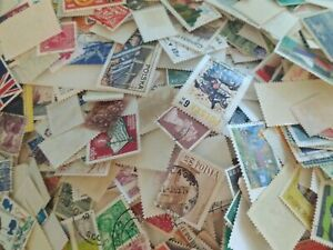 3-oz-of-Worldwide-Foreign-off-paper-used-stamps-lot-of-1000-to-1200-stamps