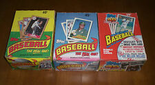 3 TOPPS BASEBALL CARD UNOPENED BOXES - 1987 - 1989 - 1991